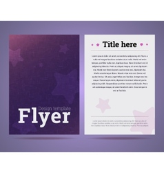 Flyer design template with stars and abstract vector