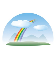 nature concept sky rainbow clouds vector image