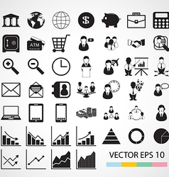 Financial icon vector