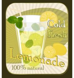 Lemonade poster vector image