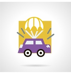 Car insurance concept flat icon vector