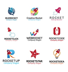 Rockets spaceship symbol vector