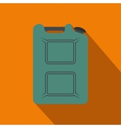 Metal canister flat icon with shadow vector