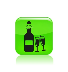 Bottle party icon vector