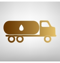 Car transports oil sign vector