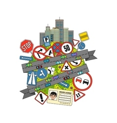 Traffic signs and regulations vector