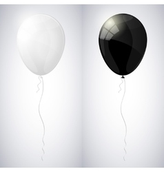 White and black shiny glossy balloons vector
