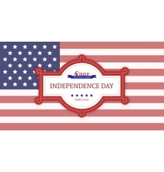 Fourth of july independence day sign vector