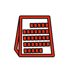abacus vector image