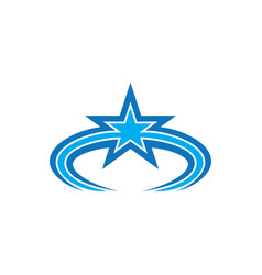 abstract star business logo vector image vector image