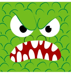 Angry monster close up vector