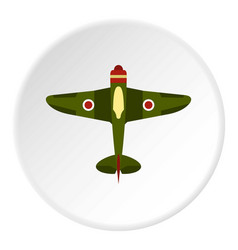 Army plane icon circle vector