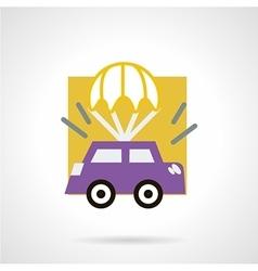 Car insurance concept flat icon vector image
