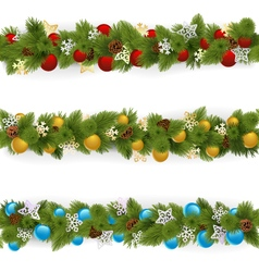Christmas Borders Set 4 vector image