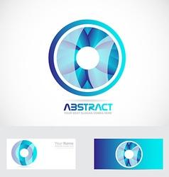 Circle flower abstract logo vector image vector image
