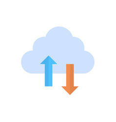 cloud data synchronization icon computer vector image