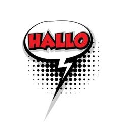 Comic text hallo sound effects pop art vector