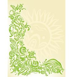 garden card vector image vector image