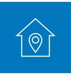House with pointer line icon vector image