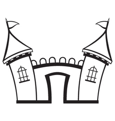Icon castle vector image vector image