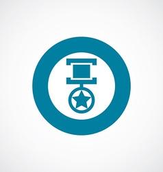 Medal icon bold blue circle border vector