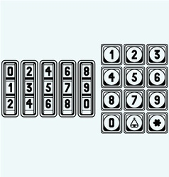 Numerical code lock vector
