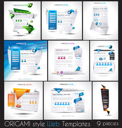 Original Style Website Templates with Origami vector image vector image