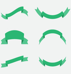 Ribbon decoration green color vector image