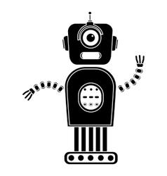 Robot silhouette vector