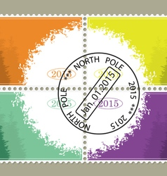 Set from four stamps for New year vector image vector image