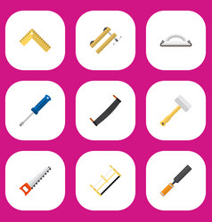 set of 9 editable apparatus icons includes vector image vector image