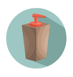 Soap bottle spa icon vector
