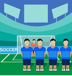 Soccer Club Team on a Stadium vector image