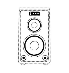 speaker amplifier technology vector image
