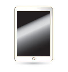 Tablet computer screen isolated on background vector