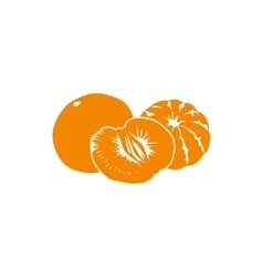 Tangerine icon simple style vector