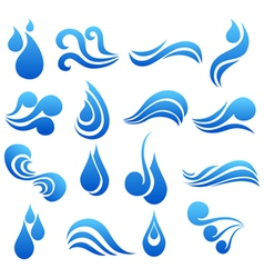 Water symbol set vector image