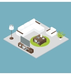 Isometric interior design vector