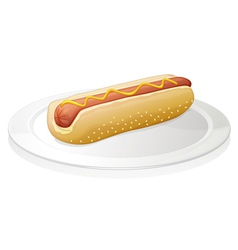 Sausages with bread vector