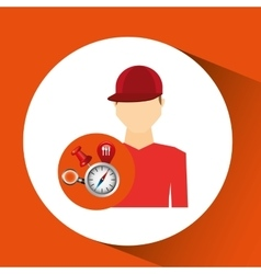Man red tshirt collection navigation elements vector