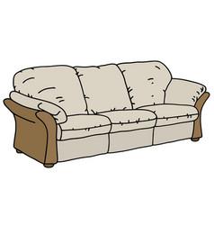 beige and cream sofa vector image
