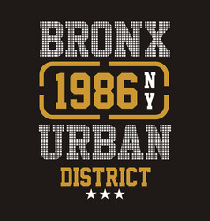 Bronx urban district vector