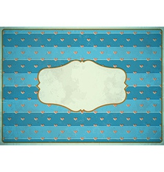 Vintage cardboard frame with hearts vector