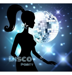 Disco party invitation vector