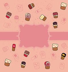 Cookie pattern vector image
