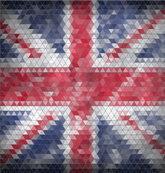Mosaic british flag background - vector
