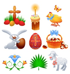 easter collection vector image