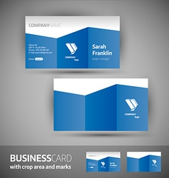 Business card template - elegant vector