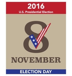 2016 us election day concept vector