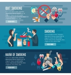 Smoking banner set vector